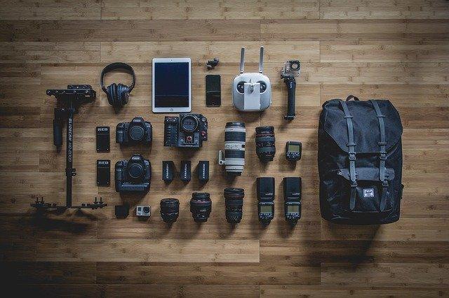 équipements photographe
